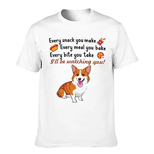 Shirtzshop - Maglietta sportiva da uomo, motivo: cane corgi, stampa tribale bianco L