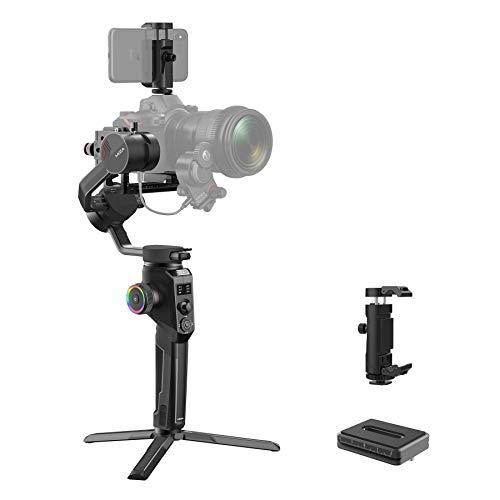 MOZA Aircross 2 DSLR Gimbal Stabilizer Mirrorless Camera 3 Axis up to 12hrs Lightweight Mimic Motion-Control Auto-Tuning Easy Setup Multiple Shooting Modes OLED Screen