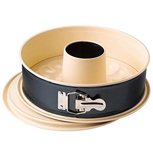 Kaiser Inspiration Springform 26 cm rund, 2 Böden, Flach- und Rohrboden, runde Backform, Made in Germany, antihaftbeschichtet, auslaufsicher, mit Rezept