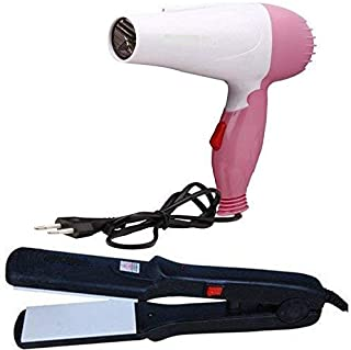 VEU 522 Hair Straightener and 1000w Hair Dryer Combo