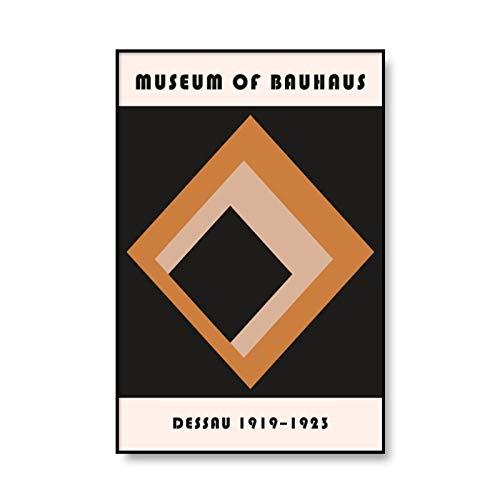 Póster Artístico de Bauhaus con estampado de patrón geométrico abstracto, lienzo impreso para el hogar, lienzo decorativo sin marco, pintura A4 50x70cm