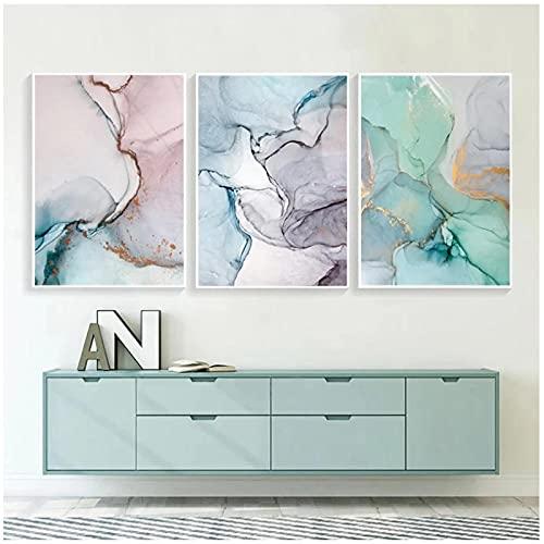 Arte de pared, póster de mármol, lienzo abstracto, pintura con tinta de Alcohol, carteles e impresiones, cuadros de pared, impresión geométrica, decoración para sala de estar, sin marco