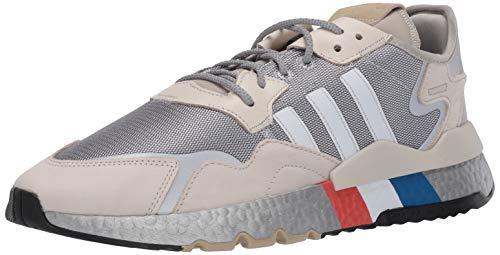 adidas Originals Nite Jogger tenis para correr para hombre, Gris (Metal plateado/blanco/aluminio.), 44 EU