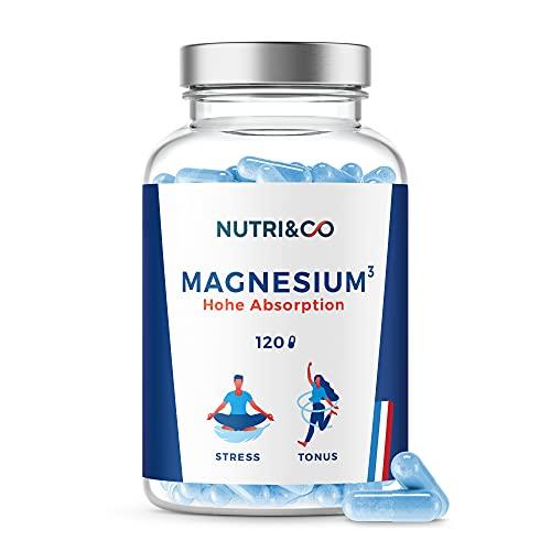 Magnesium Pflanzlich + Vitamin B6 bioaktiv I Magnesium Komplex: Magnesium Malate & Liposomal   Bessere Aufnahme als Magnesiumcitrat   120 Kapseln Hochdosiert   Laborgeprüft   Vegan   Nutri&Co