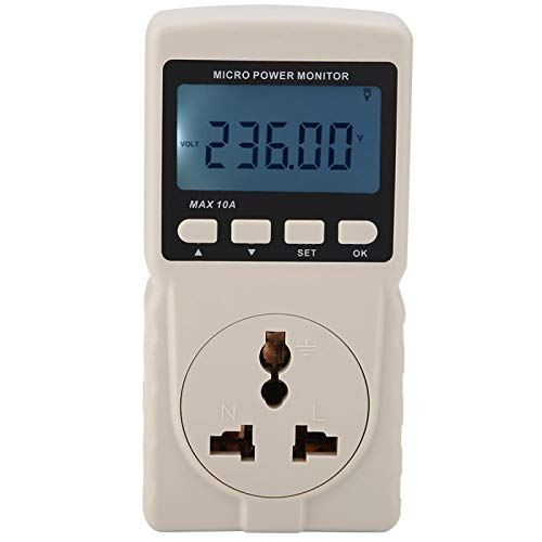 Medidor de potencia, GM86 Digital LCD Micro Medidor de potencia Analizador Monitor Medidor Probador Enchufe de la UE 220V