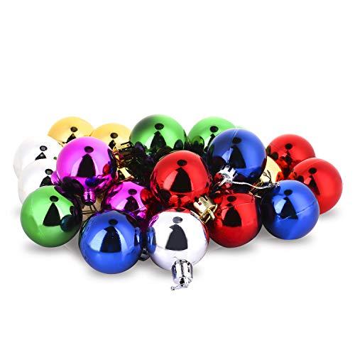 COOLWEST Lote de 24 Bolas de Navidad combinadas para colgantes navidad adornos árbol de fiesta decoración de...