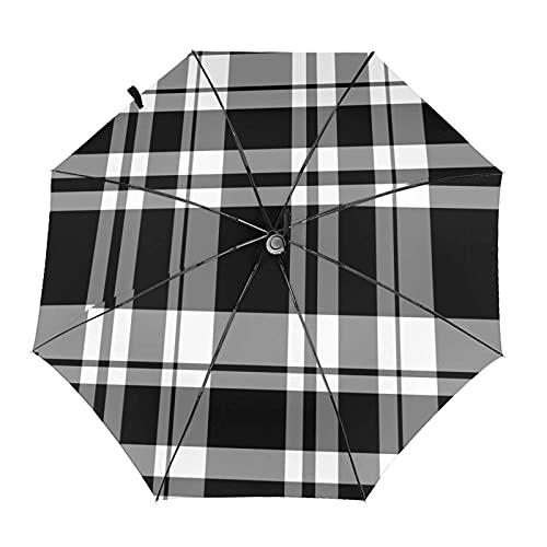 Diseño automático ligero compacto portátil del paraguas de las rayas negras blancas del viaje y alta resistencia al viento