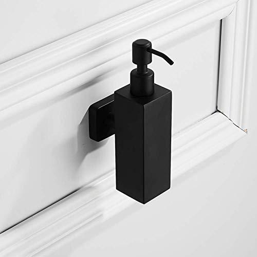 KEKEYANG automático Jabón de acero inoxidable dispensador Negro de acero inoxidable dispensador de jabón líquido montado en la pared del cuarto de baño Accesorios Conjunto de la mano del dispensador d