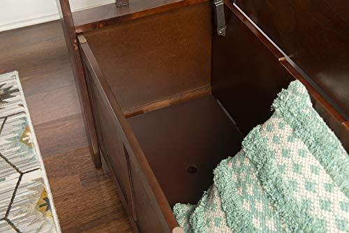 "Product Image 15: Linon Home Dcor Linon Home Decor Cynthia Storage Bench, 50""w x 17.25″d x 32″h, Walnut"