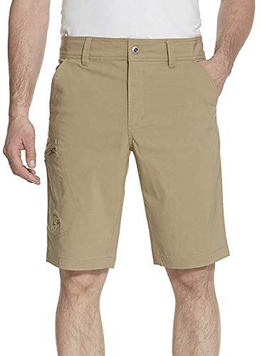 Gerry Mens Stretch Cargo 5 Pocket Shorts Venture Flat Front Woven Hiking Shorts for Men (32, Oak)