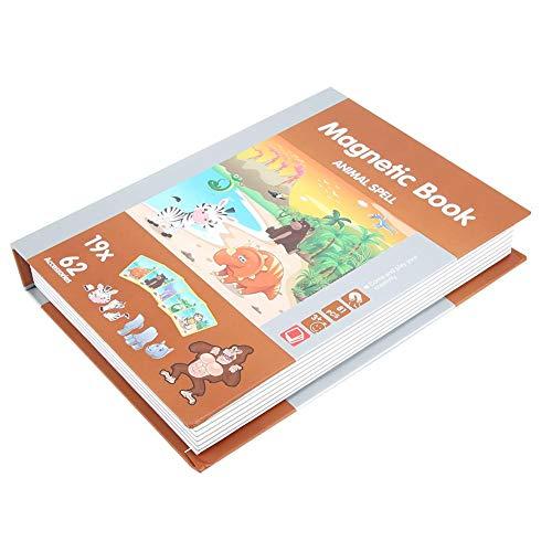 FastUU Jogo magnético, jogo de mistura e combinação de animais para crianças, desenvolvimento cerebral de animais para crianças de 4 a 6 anos de idade, meninos e meninas (tema animal)