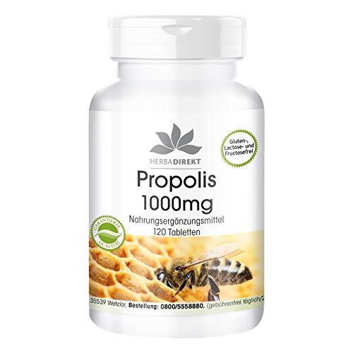 Propolis 1000mg - hochdosiert - 120 Tabletten - mit 3{ff10e7c9da262ab5dbae5b1e85af4bda3dd232d5bfbf4dcde6d243f54a69fb2e} Galangin