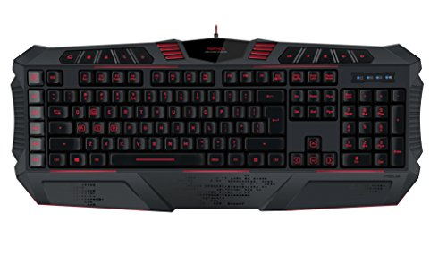 Speedlink PARTHICA Gaming Keyboard - USB Gaming Tastatur - full size Layout - konfigurierbare Tasten - LED - schwarz - US Layout