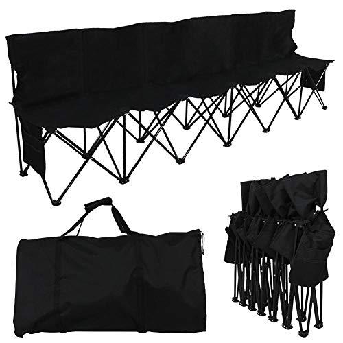 Lunuolao 6-Sitzer Camping Klappstuhl, hochwertige umweltfreundliche Materialien, langlebige Ripstop, einfacher Transport, speichern, geeignet zum Angeln, hören