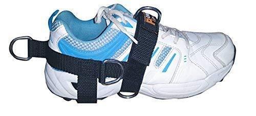 Nouveau 5-D Cheville / Pied Chaussure Sangle Pentagone 5 Anneau Câble Gym Machine Fixation pour Hommes / Femme Yoga, Pilate, Idéal pour Pied Thérapie Rehab
