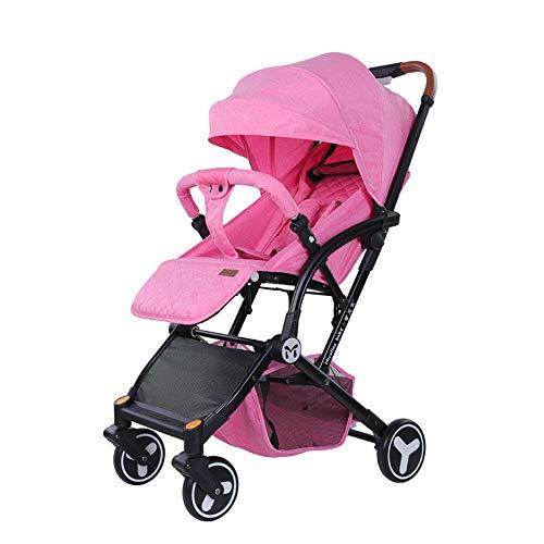 LJBDD Silla de Paseo Silla Running con 4 Ruedas neumaticas, Plegado Compacto, para Recien Nacidos, Apto para niños hasta 25kg