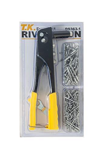 T.K.Excellent Professional Pop Rivet tool and 150 Pcs Blind Rivet Assortment Kit
