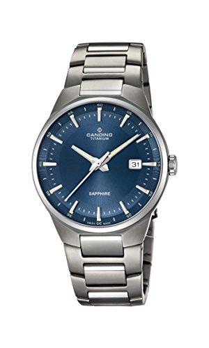 Candino Herren Datum klassisch Quarz Uhr mit Titan Armband C4605/3