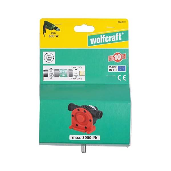 Wolfcraft 2207000 2207000-1 Bomba, vástago 8 mm (CE), 3000 l/h