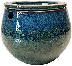 rePotme 6 inch Self Watering Teardrop African Violet Pot (Teal Ocean)