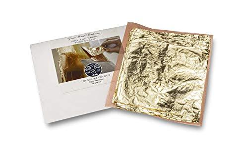 Giusto Manetti Battiloro Foglia Oro Imitazione 100 Foglie 16X16 cm
