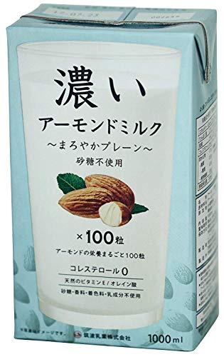 筑波乳業 ツクバ 濃いアーモンドミルク1000ml×12本セット まろやかプレーン 砂糖不使用