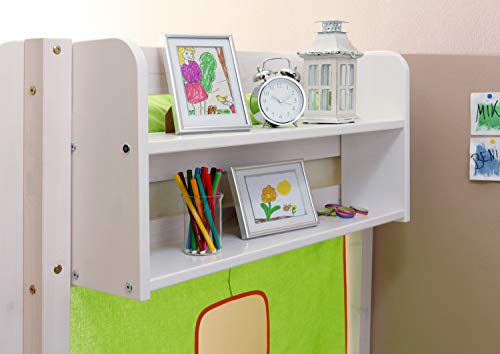 Einhängeregal für Kinderbetten Kiefer weiß verschiedene Größen, Größe:B80 / H40 / T17 cm