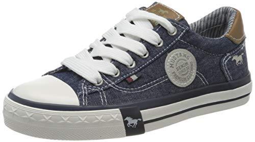 MUSTANG Jungen Unisex Kinder 5056-305 Sneaker, Blau (Jeans 893), 34 EU
