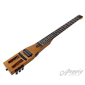 Guitarra eléctrica de Viaje portátil de edición Mejorada Anygig 010~046 con Cable de Salida de Audio Negro Mate con Bolsa de TransporteGuitarra eléctrica de ...