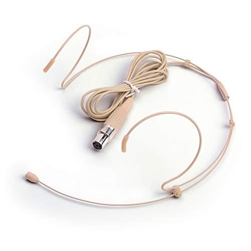 Sujeetec Microphone Serre-tête Microphone de tête Tour d'oreille Compatible avec Shure Émetteur sans Fil - Unidirectionnel Condenseur Microphone - Prise Mini XLR TA4F