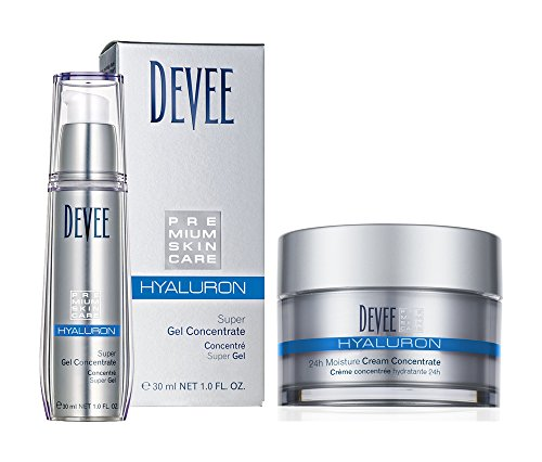 Devee Hyaluron Super Gel Concentrate 30 ml und Hyaluron 24h Moisture Creme Concentrate 50 ml, 2tlg Set