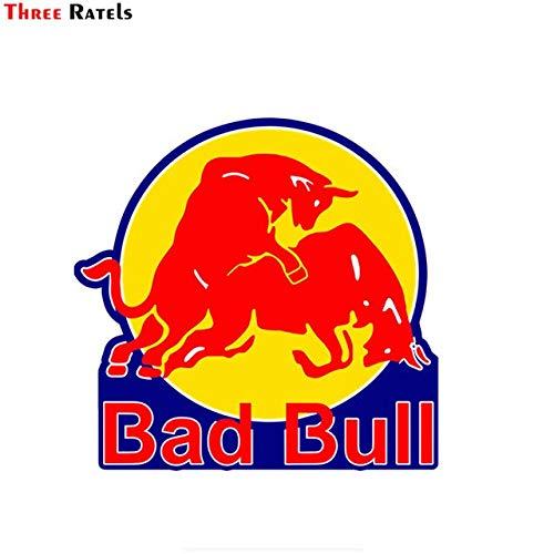 OLUYNG Sticker de Carro FC271 Pegatinas Divertidas para Coche Red Bad Bull en Maleta de Motocicleta, calcomanía de Vinilo para Parada de teléfono portátil, Ancho 20 cm FC271