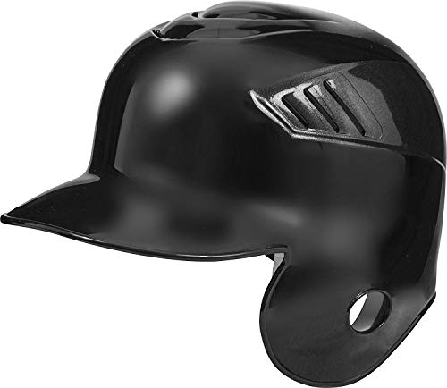 Rawlings Coolflo Single Flap Batting Helmet for Right Handed Batter, Black, Medium