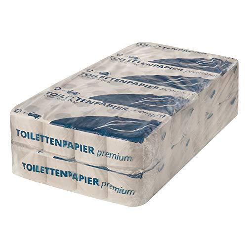 64 Rollen | Toilettenpapier Standard [ 2-lagig ] 250 Blatt je Rolle | sehr weich und soft | Klopapier naturweiß