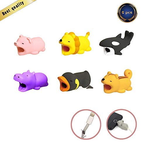 Cable Bite Cord Data Line Protector Cute Animal Cable Bites Cell Phone Accessories Phone Cord Protects Phone Accessory by HSWT-6 Pcs