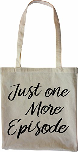 Mister Merchandise Shopping Tasche Beutel Just one more Episode movies film kino serien serienmarathon junkie Jutebeutel natur Öko Natur