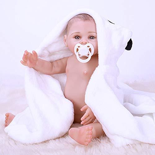 Yeah-hhi 43Cm Reborn Muñecas Cuerpo De Vinilo Suave Hecho A Mano Lindo Lindo Simulación Realista Bebé Niño para Niños Sorpresa De Cumpleaños