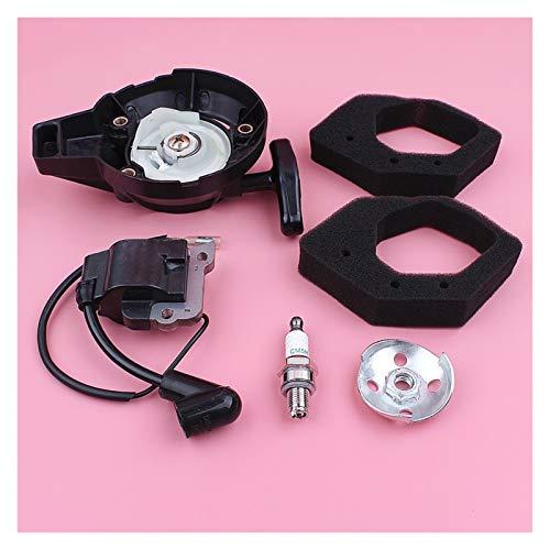 Piezas para cortacésped Bobina de encendido de arranque de retroceso de retroceso Compatible con HONDA GX25 GX 25 4 Stroke Filtro de aire Garra de garra Motor de césped de césped Reemplazar parte de r