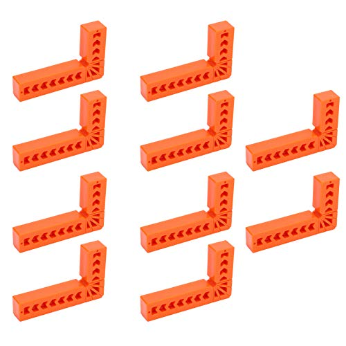 コーナークランプ L型 固定工具 10pcs 木工用 固定90度 木材 圧着 L形直角定規 プラスチック 3インチ