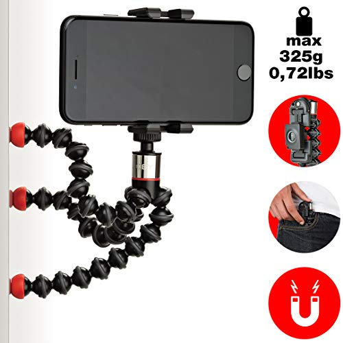 JOBY JB01494-BWW GripTight ONE + GP Magnetic Impulse Handy-Halter + GorillaPod Flexi-Stativ (mit Magnetfüßen und Bluetooth-Fernbedienung geeignet für Smartphone/iPhone)
