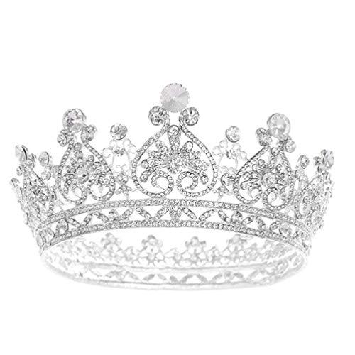FRCOLOR Tiara de Boda Corona de Diamantes de Imitación Tocado de Novia...