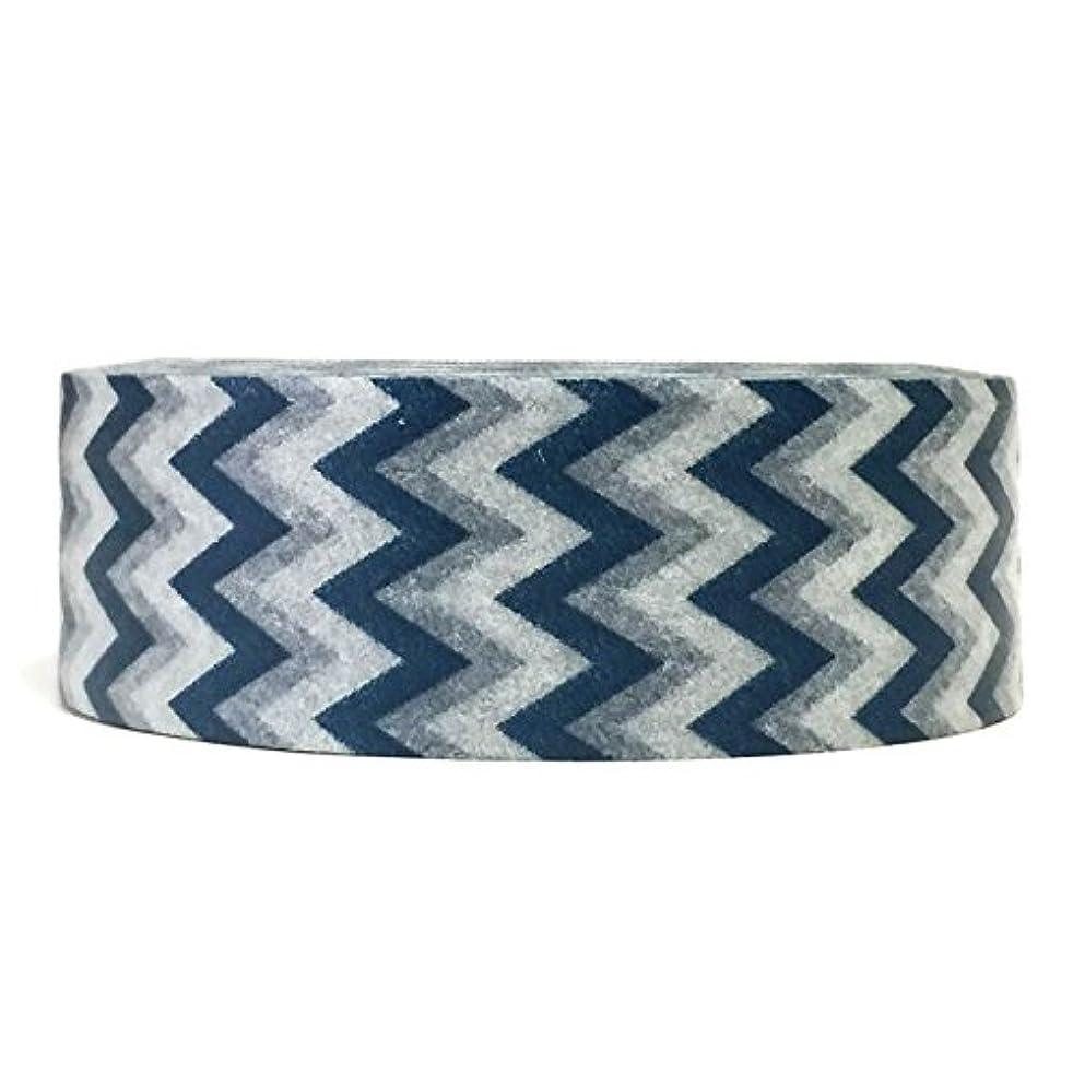 Wrapables Colorful Patterns Short Chevron Washi Masking Tape, Slate Blue