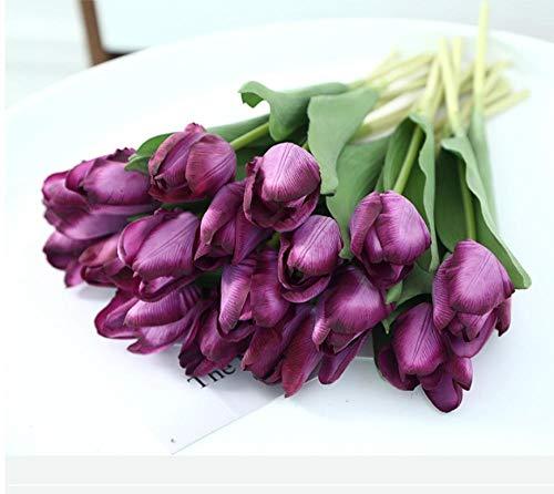 FILWHT - Flores Artificiales de simulación para casa, Oficina, jardín, Patio, decoración al Aire Libre, Morado, 10 Piezas