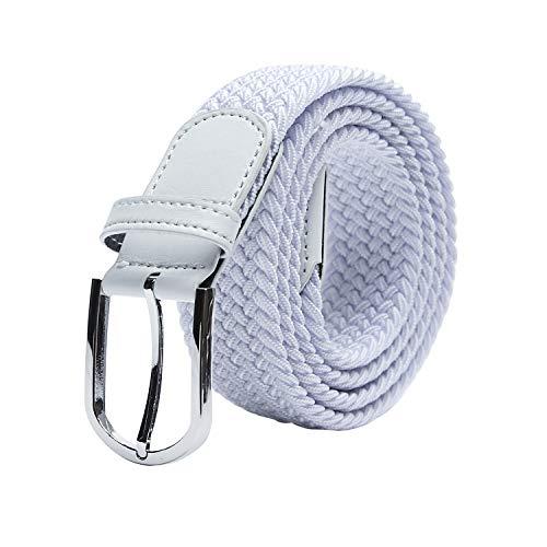 TANGCHAO unisex stretch riem elastische riem elastische stof riem gevlochten gevlochten riem rekbare riem voor dames en heren breedte 3,3 cm