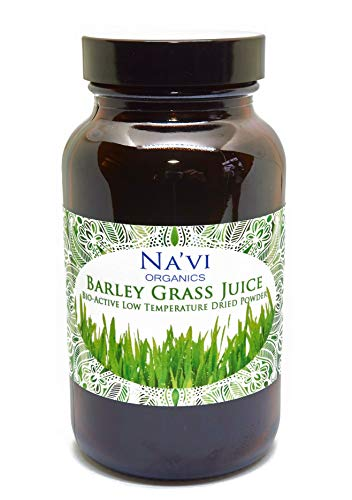 Na'vi Organics Organic Raw Barley Grass JUICE Powder - Premium Grade & Organic Certified (100 grams)