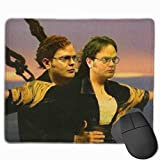 Funny Dwitanic Meme Office Parody Mouse Pad Anti Slip Gaming Mouse Pad with Stitched Edge Computer Pc Mousepad Rubber Base for Office Home