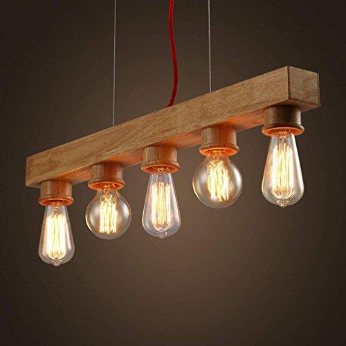 XIN Edison Native Wood Handgemaakte houten kroonluchter hanglamp hanglamp
