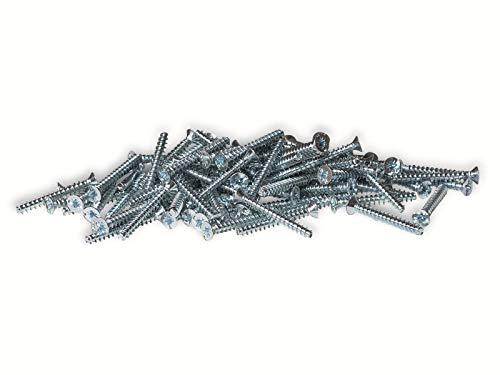 f-tronic Geräteschrauben 3,2 x 25 mm Inhalt: 100St. Typ:E152/25 Schlitzschraube