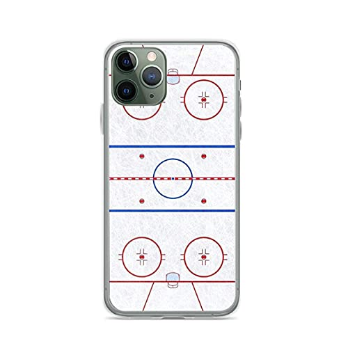 Kompatibel mit iPhone 12 11 Pro Max XR 6/7/8 SE 2020,Ice Hockey Rink Pure Clear Handyhülle Fallschutz Cover
