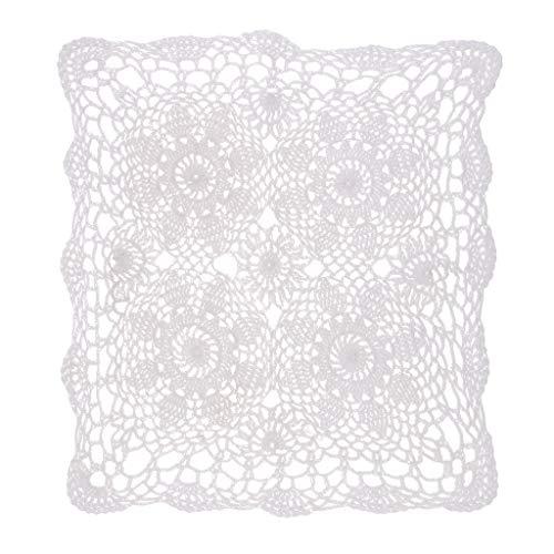 F Fityle Tapete de Encaje de Ganchillo Corredor Cubierta para Sofá Muebles Artesanía Decorativa Hogar Restaurante - 40x40cm